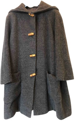 Gucci Grey Wool Coat for Women Vintage