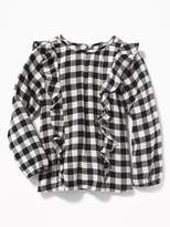 Old Navy Ruffled Gingham Swing Top for Girls