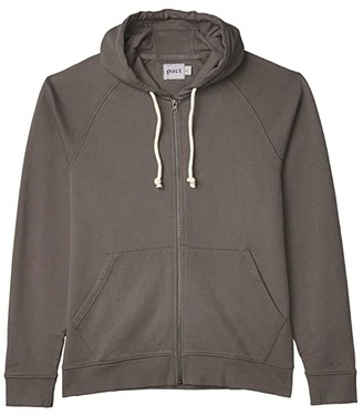 Pact Organic Cotton Essential Zip Hoodie (Midnight Navy) Men's Clothing