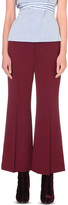 Rosetta Getty Cropped flared stretch-wool trousers