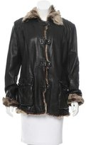 Henry Beguelin Leather Fur-Trimmed Jacket