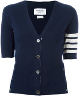 Thom Browne cashmere shortsleeved cardigan - women - Cashmere - 40
