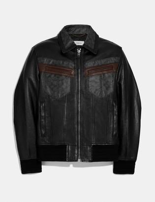 Coach Signature Leather Jacket