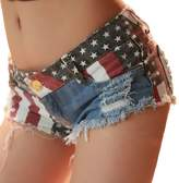 Changeshopping(TM)Sexy American US Flag Mini Shorts Jeans Hot Pants Denim Low Waist