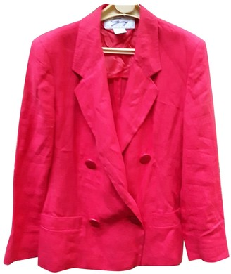 Genny Red Linen Jacket for Women