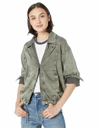 Splendid Women's Army Style Denim Jacket L