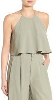 KENDALL + KYLIE Kendall & Kylie Halter Cropped Shirt