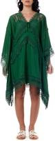 Self-Portrait Self Portrait Green Fabric Oversized Kaftan Dress