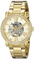 Stuhrling Original Women's 629.04 Legacy Analog Display Automatic Self Wind Gold Watch