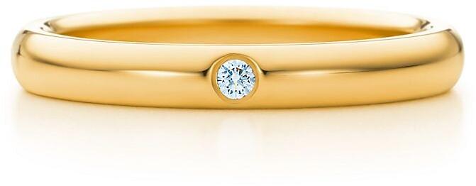 Tiffany & Co. Elsa Peretti band ring Diamond, 18k gold