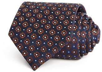 Eton Geometric Flower Pattern Classic Tie