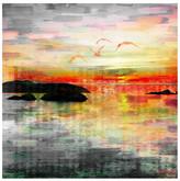 "Parvez Taj Birds in the Sunset Wall Art - 32\"" x 32\"""