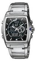 "Casio Men's Square Face Ana-Digi Watch - Silver (9"") - EFA120D-1AV"