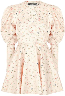 Rotate by Birger Christensen Pauline floral-print satin mini dress