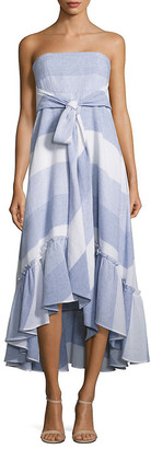 Prose & Poetry Nash Striped Tie-Front Strapless Dress