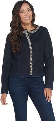 GRAVER Susan Graver High Stretch Indigo Denim Jacket