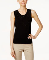 Charter Club Petite Embellished Top, Only at Macy's