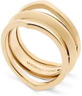 Michael Kors Gold-Tone Triple Band Ring