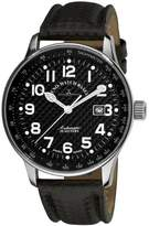 Zeno Men's P554-S1 Pilot Black Dial Watch