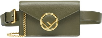 Fendi F logo plaque belt bag