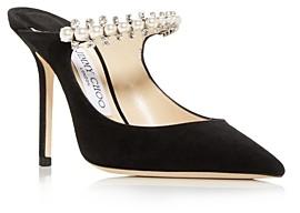 Jimmy Choo Women's Bing 100 Embellished High Heel Mules