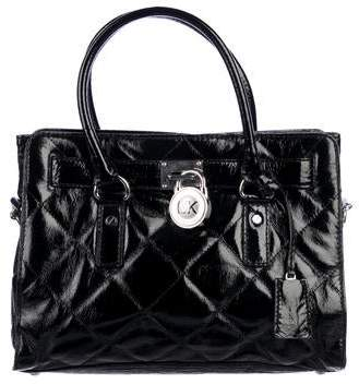 dbe227c47875 Michael Kors Black Bag With Chain Handle Silver Hardware - ShopStyle