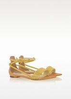 Rachel Zoe Georgie - Golden leather Sandal