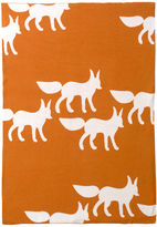 Graphic Knit Blanket - Foxes