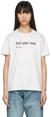 R 13 Off-White Sell Your Soul Boy T-Shirt