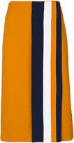 Victoria Victoria Beckham striped wrap skirt
