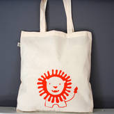 Nell Friendly Little Lion Organic Cotton Tote Bag