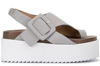 G.V.G.V. Platform Leather Sandals