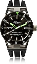Locman Montecristo Black PVD Stainless Steel & Titanium Chronograph Men's Watch