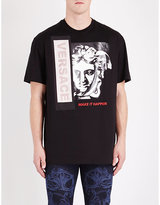 Versace Make It Happen Cotton-jersey T-shirt