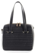 Celine Dion Vibrato Quilted Lambskin Leather Tote - Black