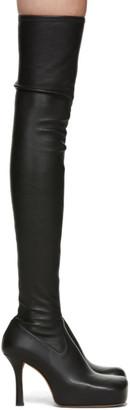 Bottega Veneta Black Nappa The OTK Tall Boots