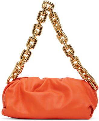Bottega Veneta Orange The Chain Pouch Clutch