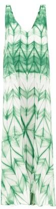 Issey Miyake Itajime Shibori-dyed Midi Dress - Womens - Green White