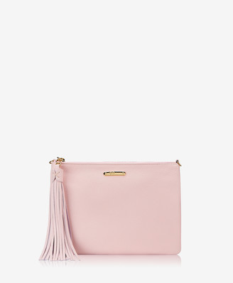 GiGi New York Chelsea Clutch, Petal Pink Napa Luxe Leather