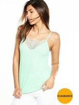 Very Lace Panel Crepe Cami Top
