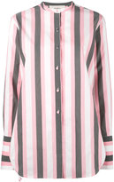 Ports 1961 striped collarless shirt - women - Cotton/Cupro - 38
