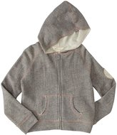Burt's Bees Baby Zip Front Hoodie (Toddler/Kid) - Heather Grey-3T