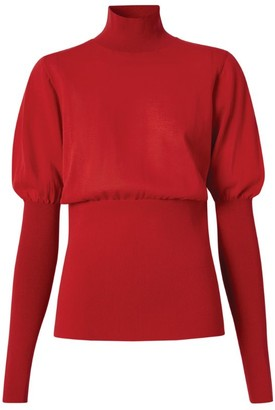 Burberry Puff-Sleeved Rollneck Sweater