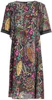 3.1 Phillip Lim Satin-Trimmed Embellished Printed Crepe Dress