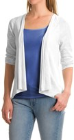 Lilla P Flame Gauze Cardigan Sweater - Open Front, 3/4 sleeve (For Women)