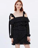 Rebecca Vallance Farina Ruffle Mini Dress