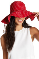David & Young Ticking Stripes Ribbon Floppy Hat