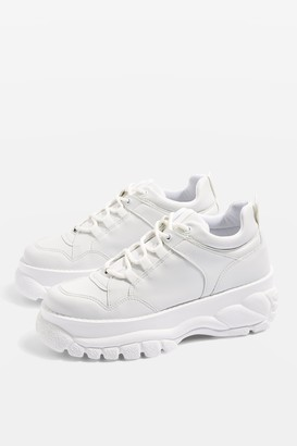 Topshop Womens Cairo White Chunky Trainers - White