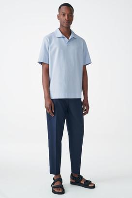 Cos Open Collar Cotton Shirt