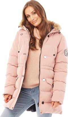 Brave Soul Ladies' Jacket WHITEHORSE3 Pink UK 16